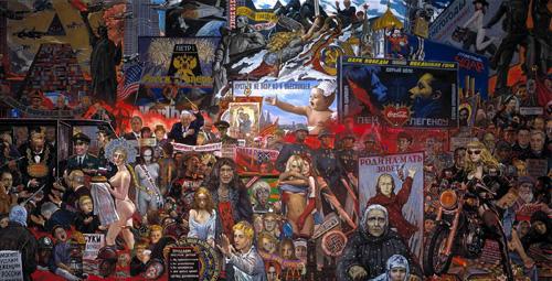 Илья Глазунов.   Рынок нашей демократии.   1999.